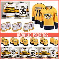 Nashville 35 Pekka Rinne Predators Hockey Trikots Matt Duchene 76 P.K. Subban 59 Roman Josi 9 Filip Forsberg 92 Ryan Johansen Jersey