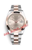 12 estilos Master Luxury Mens Relógios 41mm Datejust 126301 126303 Dois Tons Rosa Goldsteel Pulseira Fluted Bezel Mecânica Relógios Automáticos