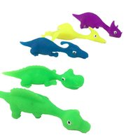 Creative dinosaur finger ejection decompression toy TPR soft...