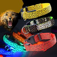 Pet Dog LED Collar Glow Cat Collars Flashing Nylon Neck Ligh...