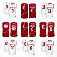 Personalizado Indiana Hoosiers Rojo Blanco Personalizado Cosido Cualquier nombre Cualquier número # 4 Victor Oladipo 11 Thomas NCAA College Basketball Jersey S-3XL