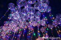 شفافة مضيئة 3 أمتار أدى بالون اللمعان عرس حزب زينة عطلة اللوازم اللون بوبو بالونات المصابيح مشرق