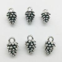 100 stks Pinecone Charms Hangers Retro Sieraden Accessoires DIY Antieke Zilveren Hanger Voor Armband Oorbellen Sleutelhanger 13 * 8mm