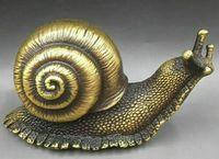 bronze artesanal escultura caracol sorte no transporte livre coleção decorativo chinês