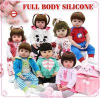 Hot Verkauf Ganzkörper-Silikon wasserdicht Badespielzeug reborn reborn Kleinkind Babypuppen bebte Puppe reborn lebensecht Soft-Touch Spielzeug Kinder Geschenk