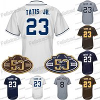 23 Fernando Tatis Jr. 50. Geburtstag Garrett Richards Manuel Margot Jose Pirela Manuel Margot Austin Hedges Manny Machado Baseball-Trikot