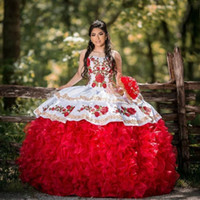 2020 Sweet 16 Quinceanera Dresses Flower Applique Beaded vestido 15 anos Formal Mexican vestidos de quinceañera