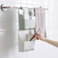 Bathroom Organizer Shower Storage Box Plastic Wall Hanging W...