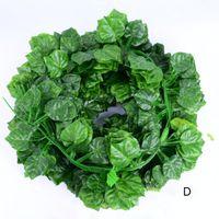 12 штук / набор из 220 см искусственные зеленые листья стены висит дома украшения дома лоза лозы 90 листьев дома садовые украшения