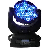 kafa RGBW 108pcs hareketli yol DMX hareketli yıkama ışını yol 108x3w 4 adet far hareket açtı