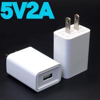 Hızlı şarj USB şarj 5 V 1A / 2A seyahat duvar şarj iphone SAMSUNG Huawei Cep Telefonu drop shipping