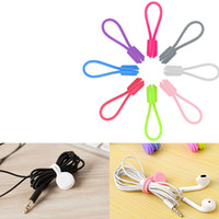 1000pcs Silicone Magnet Coil Earphone Cable Winder Headset Type Bobbin Winder Hubs Cord Holder Cable Wire Organizer for Xiaomi