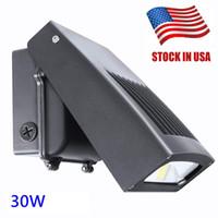 Abd'de stok 30W LED Duvar Paketi Işık, 0-90 ° Ayarlanabilir Lamba Gövde, 5000K 3300 Lümen, 250 Watt HPS / HID Değiştirme 5 Yıl Garanti