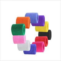 Las pulseras de tela de toalla Deporte Banda de sudor Banda mano del sudor ayuda de muñeca Brace Wraps guarda para Gimnasio Voleibol Baloncesto apoyo muñecas deportivas