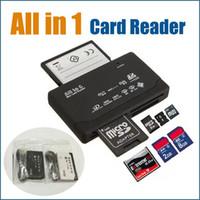 All-in-1 المحمولة جميع في قارئ بطاقة صغيرة واحدة متعددة في 1 USB 2.0 قارئ بطاقة الذاكرة DHL أعلى جودة على Dhgate