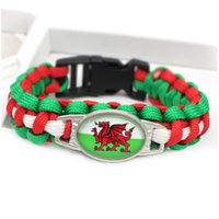 Wales Flag Charm Paracord s & Bangles 18*25mm Cabochon Frien...