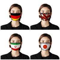 Nationalflagge Druck Gesicht Earloop Staubdichtes windundurchlässiges Mundmasken Sonnenschutz Respirator Mascherine Usa Japan Kanada 2 7BR E19 Maske