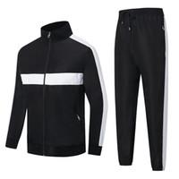 Fransa marka Çizgili Mozaik Tasarımcı Erkek eşofman homme Sonbahar kış erkek spor ceket Fermuar hırka erkek ceketi dökmek survetement