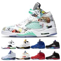 Fashion 5 Mens Basketball Shoes Designer 5s wings White Ceme...