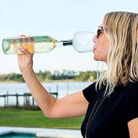 خلاقة النبيذ الاحمر سدادة الخالي من الرصاص الشمبانيا الزجاج مع زجاجة النبيذ المحمولة أداة مطبخ 500ML المنزلية الزجاج والنبيذ الإبداعي