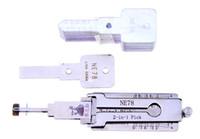 Lishi NE78 2in1 Décodeur et choisissez pour PEUGEOT 406 Rainure latérale 4-Track, 100% Original Lishi Lock Choisies de M. Li Factory