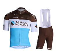 2019 AG2R La Mondiale Велоспорт Джерси Майолот Ciclismo с коротким рукавом и велосипедными нагрудниками Шорты велосипедных комплектов Bicicletas O19121703