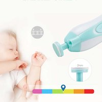 Baby Automatic Electric Trimmer Trimmer Baby Care Accessure Portable Multi-Function Electric Manicure Набор ногтей зеленый розовый оптом