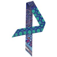 Großhandels5pcs neue nationale Luft Beutelverschließmaschine Bänder längliche schmaler Griff gedruckt kleine Twillseide Schal Paket mit Ms. Schale