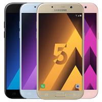 Remis à neuf d'origine Samsung Galaxy A5 2017 A520F 5,2 pouces Octa de base 3Go RAM 32GB ROM 16MP 3000mAh 4G LTE Android Smart Phone gratuit DHL 5pcs