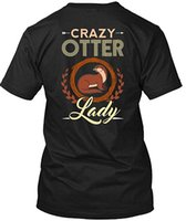 Mens Designer T Shirts Father- Crazy Otter Lady T Shirt, Otte...