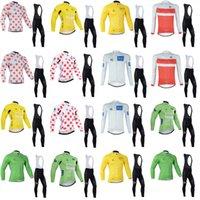 Tour de France 팀 사이클 긴 소매 유니폼 (BIB) 빠른 건조한 브라시블 자전거 스포츠웨어 도로 자전거 Ropa Ciclismo B617-31