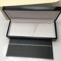 Precio al por mayor Caja de pluma de regalo de la moda de la pluma de buena calidad Caja de lana negra con un manual