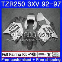 Kit per YAMAHA TZR250RR RS TZR250 Grigio bianco caldo 92 93 94 95 96 97 245HM.50 TZR 250 3XV YPVS TZR 250 1992 1993 1994 1995 1996 1997 Carena