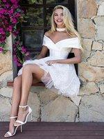 우아한 흰색 짧은 레이스 homecoming 댄스 파티 드레스 슬리브 v 목 satin 싸고 파티 졸업 칵테일 드레스