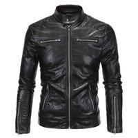 Men's Fur & Faux Oeak Winter Warm Leather Jacket Men Casual Windbreaker Mens Motorcycle Fashion Zipper Patchwork Male Black Jackets Coat