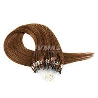 VMAE дважды обращается Индийский Реми Девы черный коричневый блондинка нано кольцо наращивание волос 1г/с 100г человеческих волос микро кольца петли шелковые прямые