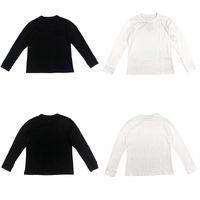 20ss الرجال تي شيرت أزياء الرجال القطن تنفس طويل الأكمام الرجال النساء أزياء ذات جودة عالية أسود أبيض T تيز قميص