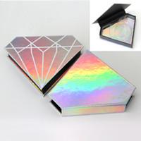 20PCS 상자 사용자 정의 가짜 3D 밍크 속눈썹 상자를 포장 도매 가짜 속눈썹은 CILS 스트립 다이아몬드 자기 경우 빈 가짜