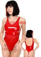 новый стиль женщин тело костюм костюмы Sexy Shiny ПВХ костюм Короткие Кэтсьют комбенизоны костюмы Halloween Party Необычные платья косплей костюм