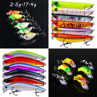 6 couleurs mélangées en plastique Leurres Leurres Leurres de-17,4 g (3cm-10.2cm) 12/10/8/6/4 # Crochet Pêche Crochets Pesca pêche Tackle BLU_238