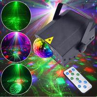 Партия свет диско шар диско DJ света для комнаты венчания света этапа лазерный проектор строб вращающийся звуковой активации с дистанционного управления