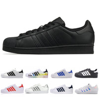 2019 Pelle classica Superstar Bianco Nero bianco Rosa Blu Oro Superstars 80s Pride Sneakers Super Star Donna Uomo Sport Scarpe casual 36-44