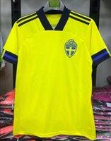 2021 Ibrahimovic Suécia Europeu Cup Home Amarelo Berg Mens de futebol Jersey Guidetti Ekdal Kallstrom Forsberg Camisa de futebol Tamanho S-3XL 20 21