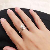 Anillo al por mayor del regalo del día de timbre inteligente amor plata de ley 925 CZ Diamond aplicable a las joyas Love Lock Señora Valentine