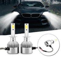 1Pair C9 55W 4600lm COB-Scheinwerfer der Auto-LED-Scheinwerfer DRL Nebel-Lampen-Birnen-Auto Styling Auto ZUBEHÖRKFZ Auto-LED-Scheinwerfer