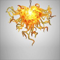 Hand Blown Glass Chandeliers Lightings LED European Style Ho...