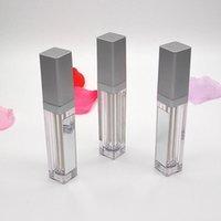 NUOVO 7ML LED Svuotare Lip Gloss tubi quadrati Cancella Lipgloss riutilizzabili bottiglie contenitore di plastica di trucco di imballaggio con specchio e luce DHL