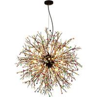 Havai fişek LED Avize Işık Paslanmaz Çelik Kristal Aydınlatma Oturma Odası Yemek Odası B071 için Yeni