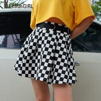 Plissee Checkerboard Röcke Damen High Waisted Checkered Rock Harajuku Tanzen Korean Style Sweat Short Miniröcke