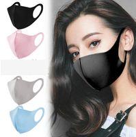 Anti Toz Buz İpek Yüz Nefes Yıkanabilir Unisex Açık Ağız Maskeleri LJJO7690 Maske Kulak Asma 5 Renkler Maske